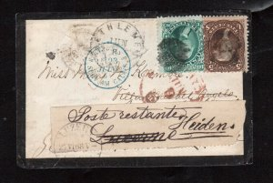 USA #68 & #76 Used On Mourning Cover To Switzerland