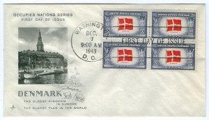 Scott 920 1943 5c Denmark First Day Cover Cat $4.00