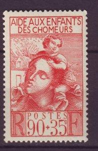 J24625 JLstamps 1939 france set of 1 mh #b84 mother child