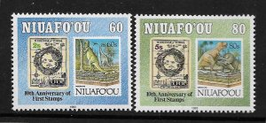 NIUAFO'OU, 156-157, MNH, 1993 ISSUE