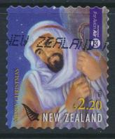 New Zealand  Used  Air Mail $2.20 self adhesive   Christmas 2016