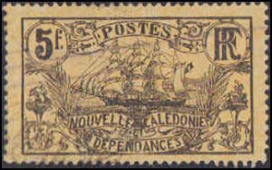 New Caledonia #116, Incomplete Set, High Value, 1905-1928, Ships, Used