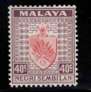 MALAYA Negri Sembilan Scott 31 MH* coat of arms stamp