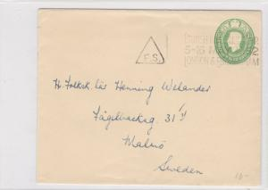 england-sweden 1952 stamps cover triangle cancel ref 8625