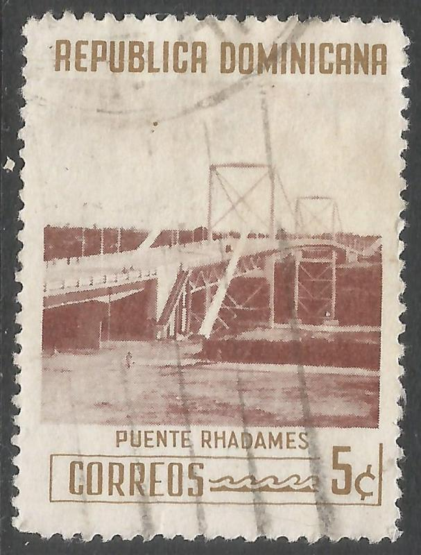DOMINICAN REPUBLIC 521 VFU BRIDGE 541G-4