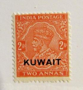 KUWAIT Sc# 27 * MH 4 As postage stamp. fine +