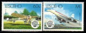 Manned Flight Bicentenary, Lesotho stamp SC#405-6 MNH