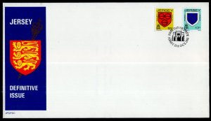 Jersey 381-382 Coat of Arms U/A FDC