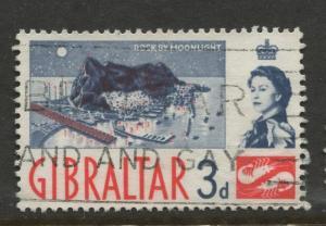 Gibraltar - Scott 151 - QEII Definitive Issue -1960- Used - Single 3d Stamp