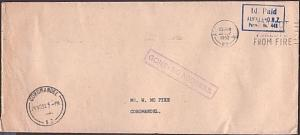 NEW ZEALAND 1952 cover to Coromandel : GONE NO ADDRESS
