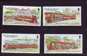 Isle of Man Sc 554-7 1993 Electric Railway stamp set  mint NH