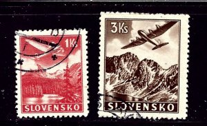 Slovakia C3 and C5 Used 1939 issues