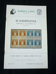 ROBSON LOWE AUCTION CATALOGUE 1982 SCANDINAVIA 'PRESTON' COLLECTION