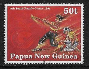 PAPUA  NEW GUINEA  773   USED,  BASEBALL ISSUE 1991