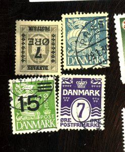 DENMARK 92 186 233 269 USED FVF Cat $70