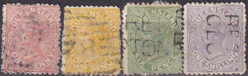 Queensland #66, 68-70  Used CV $20.10  (A19134)