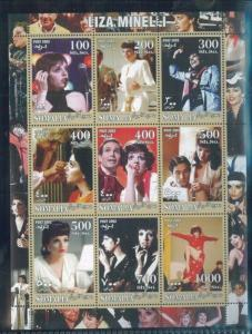 LIZA MINELLI Mini Sheet of 9 MNH (Unlisted) - Somalia E33