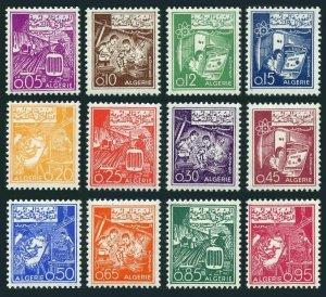 Algeria 319-330,MNH.Michel 416-427. Definitive 1964-1965.Tractors,Atom,Lathe,