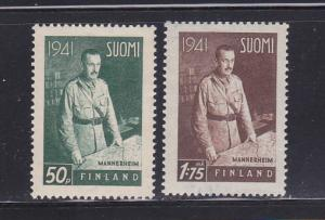 Finland 227-228 MHR Field Marshal Mannerheim