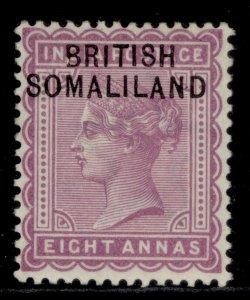 SOMALILAND PROTECTORATE QV SG8, 8a dull mauve, M MINT.
