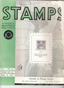 Stamps Weekly Magazine of Philately June 10, 1933 Stamp Collecting Magazine