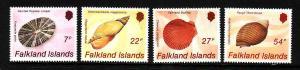 Falkland Is.-Sc#437-40-unused NH set-Seashells-Marine Life-1