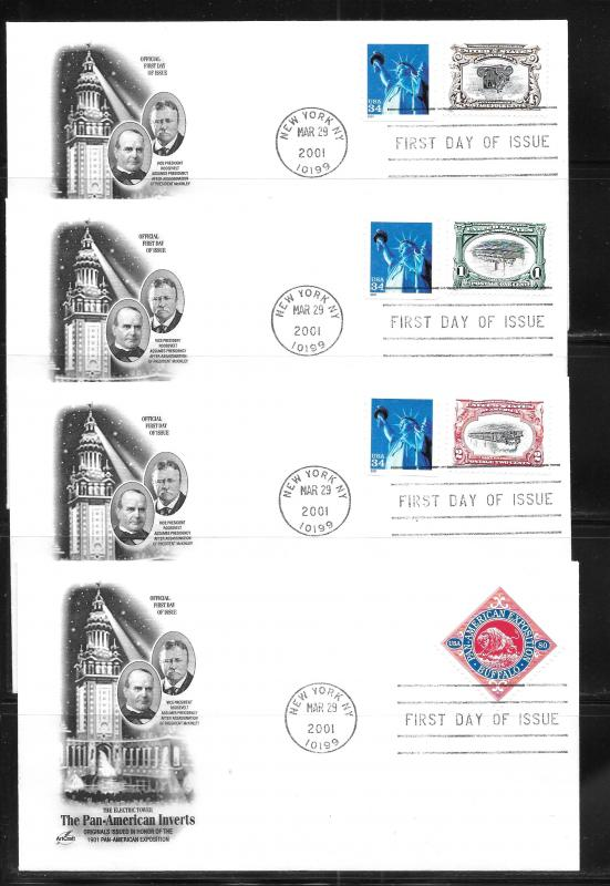 United States, 3505, Pan-American Inverts Artcraft First Day Covers, FDC (z2)