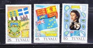 Tuvalu 180-182 Set MNH Various