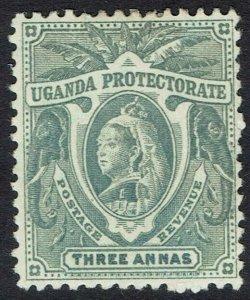 UGANDA 1898 QV ELEPHANTS 3A
