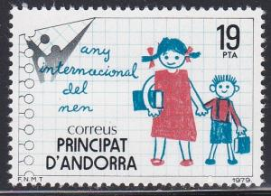 Spanish Andorra # 113, International Year of the Child, NH.