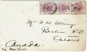 Orange Free State 1895 Kroonstad cancel on cover to CANADA