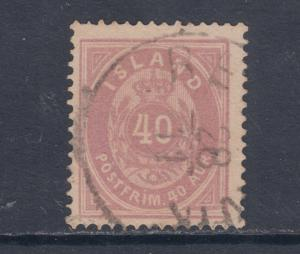 Iceland 18 used 1892-98 40a red violet Numeral F-VF