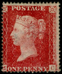 SG36, 1d rose-red, LC16, M MINT. Cat £2750. MC