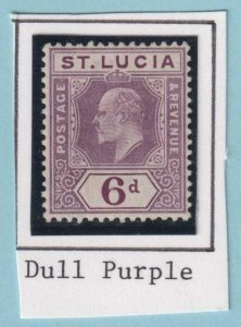 ST LUCIA 54 - SG 73 - DULL PURPLE - MINT HINGED OG * NO FAULTS EXTRA FINE!