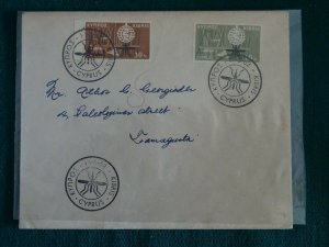 Cyprus 1962 Malaria set Unofficial FDC.