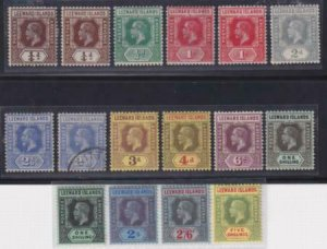 Leeward Islands 1912 SC 46-57 and Varieties Mint SCV $177.00