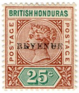 (I.B) British Honduras Revenue : Duty Stamp 25c