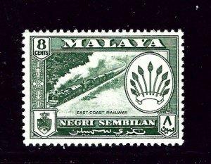 Malaya-Negri Sembilan 68 MNH 1957 Train