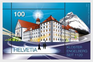 Switzerland 2020 900 Years Engelberg Monastery Miniature Sheet mint**