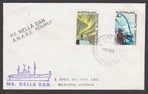 AUSTRALIA ANTARCTIC 1968 cover ex MAWSON - Nella Dan supply ship cachet.....L998