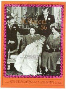 Saint Vincent and the Grenadines. 1987. bl49. Queen Elizabeth. MNH.