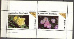 {E143} Eynhallow Scotland Flowers (4) Sh.2 MNH Cinderella !!