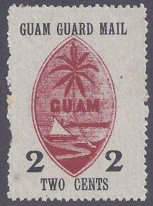 Guam scott #M4 Mint NH Partial gum VF