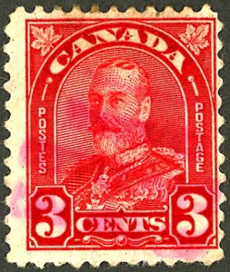 CANADA #167 USED VIOLET CANCEL