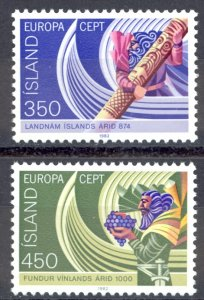 Iceland Sc# 554-555 MNH 1982 Europa