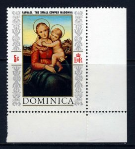 DOMINICA QE II 1968 The Christmas Issue and Mini-Sheet SG 245 MNH