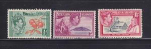 Pitcairn Islands 1-3 MHR King George VI, Various