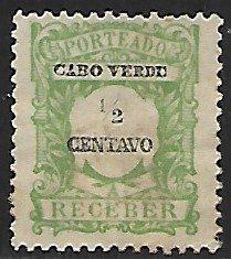Cape Verde # J21 - Tax Stamp - used....(BRN7)