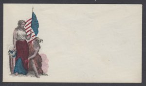 Civil War Patriotic unused MAGNUS cover - Lady Liberty, Flag and Native American