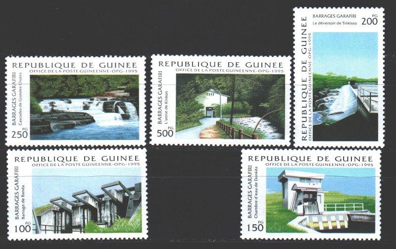 Guinea. 1995. 1510-14. Garafiri Dam Waterfall. MNH.